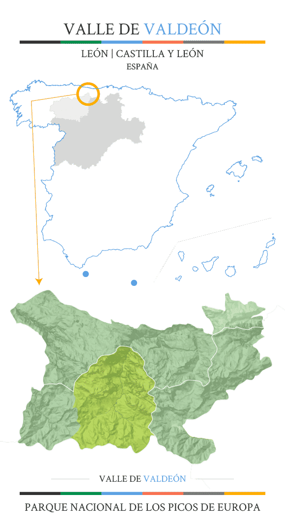 Mapa situacion valdeón